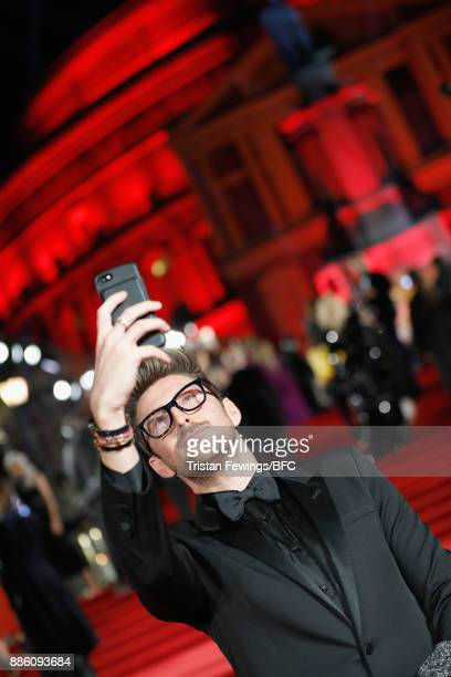Henry Holland poses for a selfie at The Fashion Awards 2017 in partnership with Swarovski at Royal Albert Hall on December 4 2017 in London England