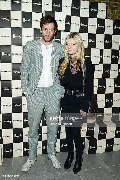 Henry Hudson and Sophie Kennedy Clark attend the Serpentine Future Contemporaries x Harrods Party 2016 at The Serpentine Sackler Gallery on February...