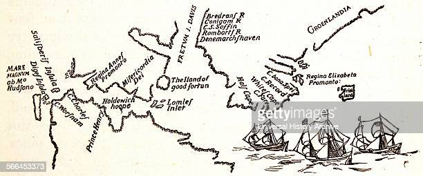 Henry Hudson map of his voyages in the arctic Hudson was an English explorer and navigator who sailed to northern North America four times From his...