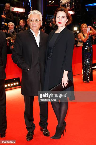 Henry Huebchen and Antje Traue attend the 'Hail Caesar' premiere during the 66th Berlinale International Film Festival Berlin at Berlinale Palace on...