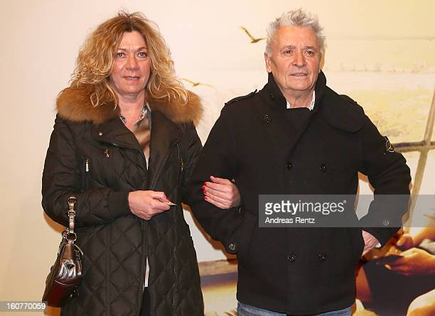 Henry Huebchen and Carmen Kopplin attend 'Quelle des Lebens' Germany Premiere at Delphi Filmpalast on February 5 2013 in Berlin Germany