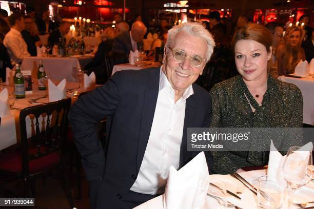 Henry Huebchen and his daughter Nora Huebchen attend the Askania Award at Palazzo am Bahnhof Zoologischer Garten on February 13 2018 in Berlin Germany