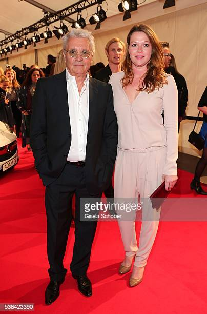 Henry Huebchen and his daughter Nora Huebchen during the New Faces Award Film 2016 at ewerk on May 26 2016 in Berlin Germany
