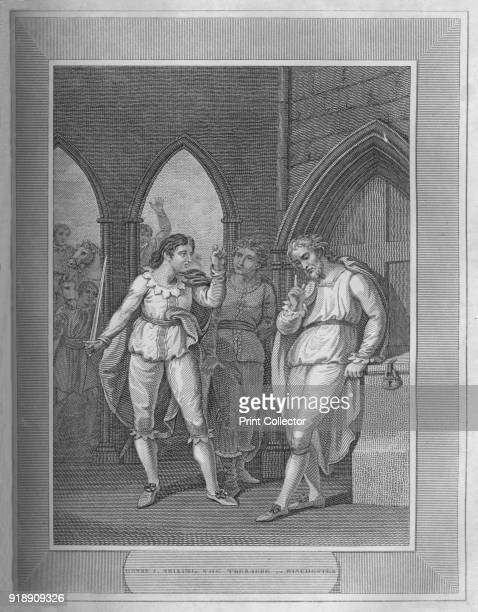 'Henry I Seizing The Treasure of Winchester' 1838 Henry I King of England from 1100 to his death From The History of England Vol 1 by David Hume Esq...