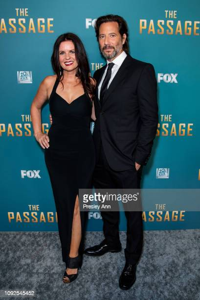 Henry Ian Cusick and Annie Cusick attend FOX's 'The Passage' Premiere Party at The Broad Stage on January 10 2019 in Santa Monica California