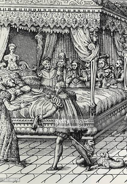 Henry II of France on his deathbed