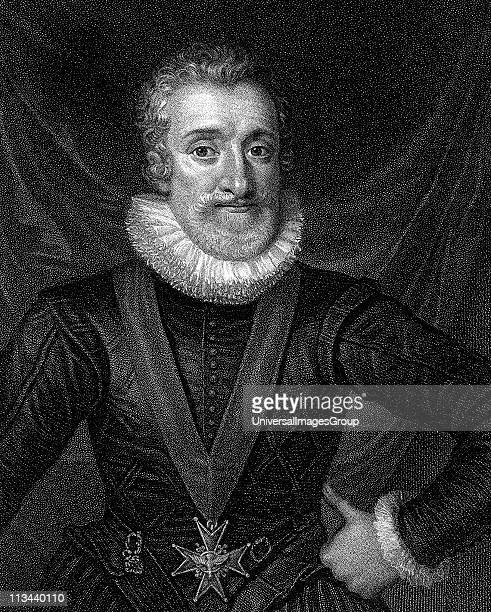Henry IV King of Navarre 1572: King of France from 1589. Engraving c1830
