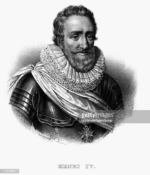 Henry IV King of Navarre King of France 1589. Lithograph c1820.