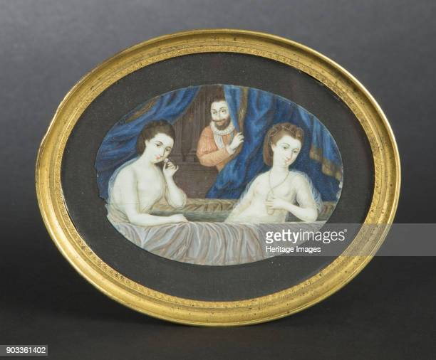 Henry IV observed bathing Gabrielle d'Estrées and her sister Private Collection
