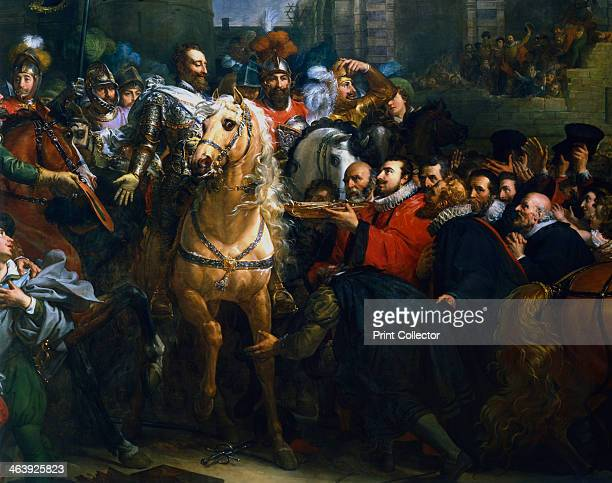 Henry IV of France entering Paris, 22 March 1594 . Detail. Henry became King of Navarre in 1572 and ascended the French throne in 1594. A Protestant,...