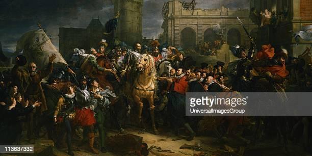 Henry IV of France entering Paris, 22 March 1594. Galerie des Batailles, Versailles, France