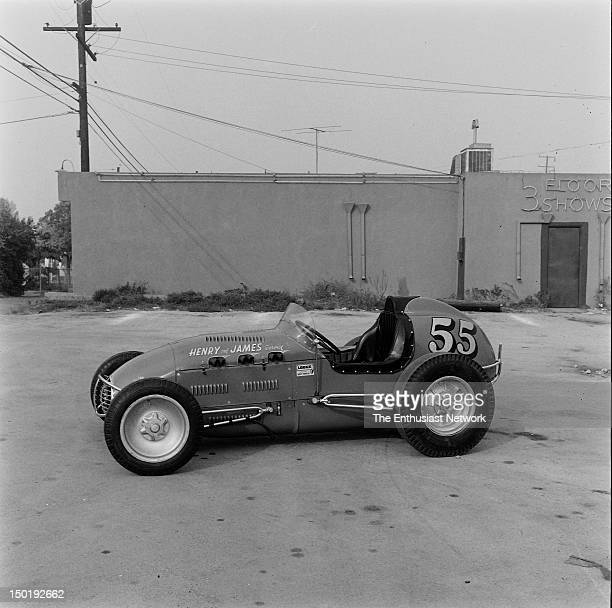 Henry & James Service Sprint Car. Henry Higuchi and James Yoshida built the car with a Hank Henry body. The chassis was built by Lujie Lesovdky and...