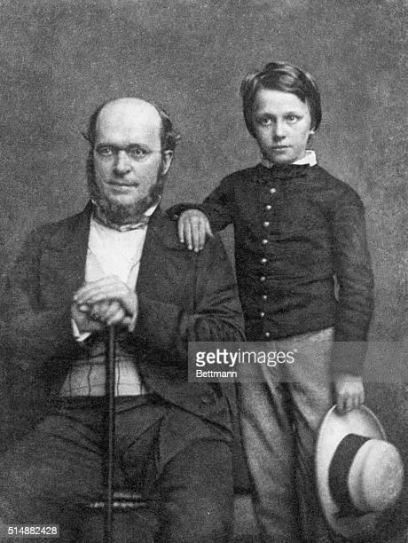 Henry James, Sr. And Henry Jr. As a boy. Daguerreotype by Brady taken in New York in 1854.