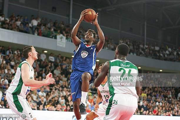 Henry Kahudi during the Appart City Cup match between Nantes and Nanterre at Salle Metropolitaine on September 18 2016 in Reze France
