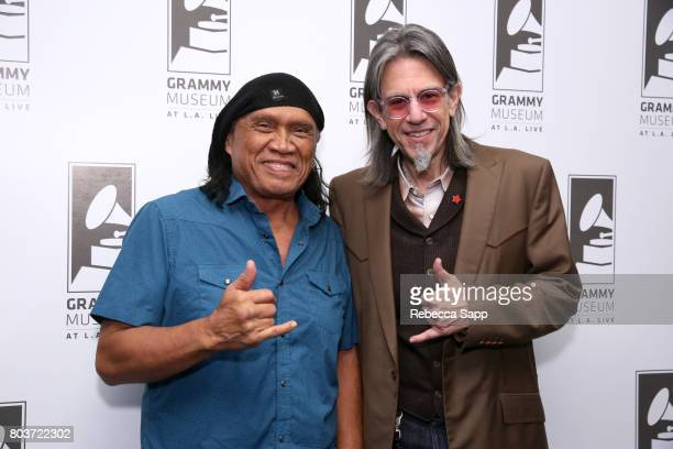 Henry Kapono and GRAMMY Museum Executive Director Scott Goldman attend An Evening With Henry Kapono at The GRAMMY Museum on June 29 2017 in Los...