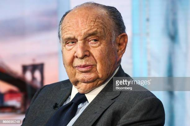 Henry Kaufman president of Henry Kaufman and Co listens during a Bloomberg Television interview in New York US on Thursday Oct 26 2017 Kaufman...