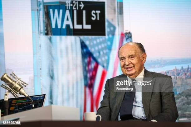 Henry Kaufman president of Henry Kaufman and Co smiles during a Bloomberg Television interview in New York US on Thursday Oct 26 2017 Kaufman...