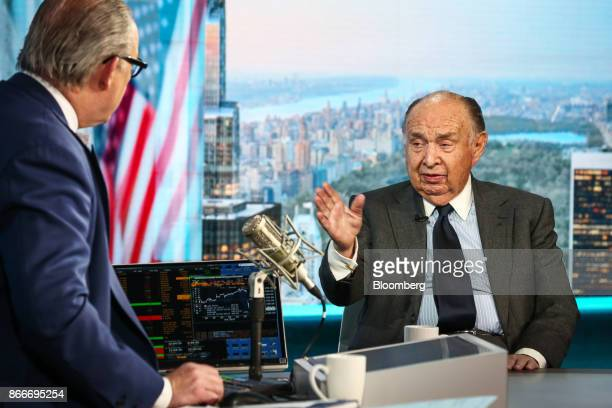 Henry Kaufman president of Henry Kaufman and Co speaks during a Bloomberg Television interview in New York US on Thursday Oct 26 2017 Kaufman...