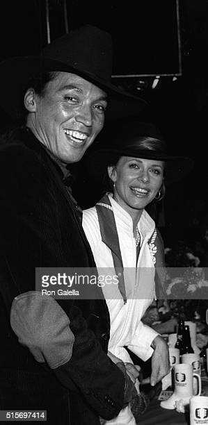 Henry Kingi and Lindsay Wagner attend The Nashville Network Telecast Party on March 7 1983 at Palimino in Hollywood California
