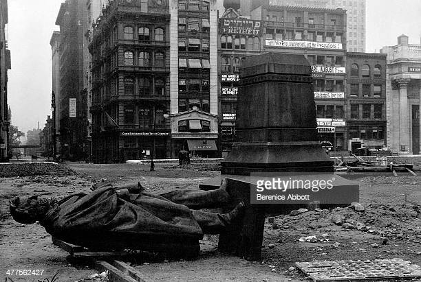 Henry Kirk Browns Statue of Abraham Lincoln awaiting relocation from Union Square New York City New York circa 1930