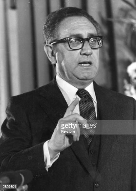 Henry Kissinger, American diplomat.