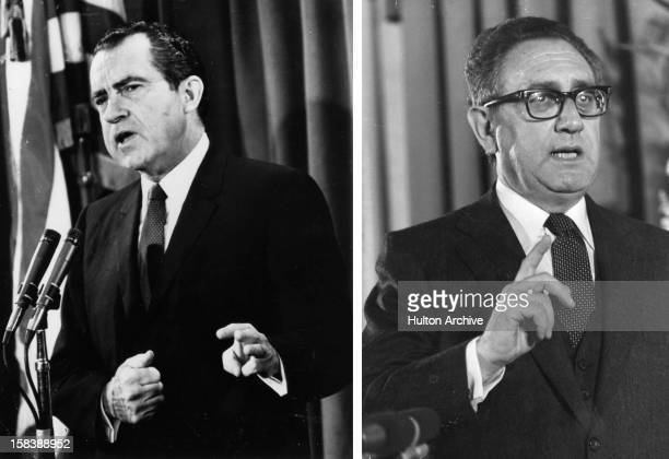 Henry Kissinger American diplomat speaks in 1971
