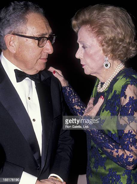 Henry Kissinger and Brooke Astor attend Citizens For New York Benefit Gala on February 13 1990 at the Waldorf Hotel in New York City