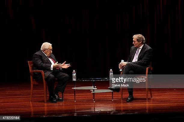 Henry Kissinger And Charlie Rose Mark The 70th Anniversary Of VE Day at Museum of Jewish Heritage on May 13 2015 in New York City