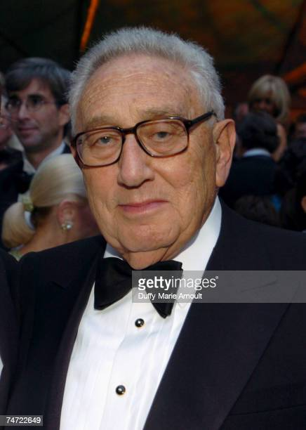 Henry Kissinger at the The Abbey Aldrich Rockefeller Sculpture Garden at the MOMA in New York City New York