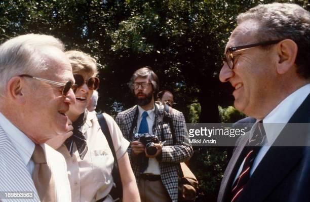Henry Kissinger attends graduation of son David Kissinger from Concord Academy Massachusetts 1st June 1979