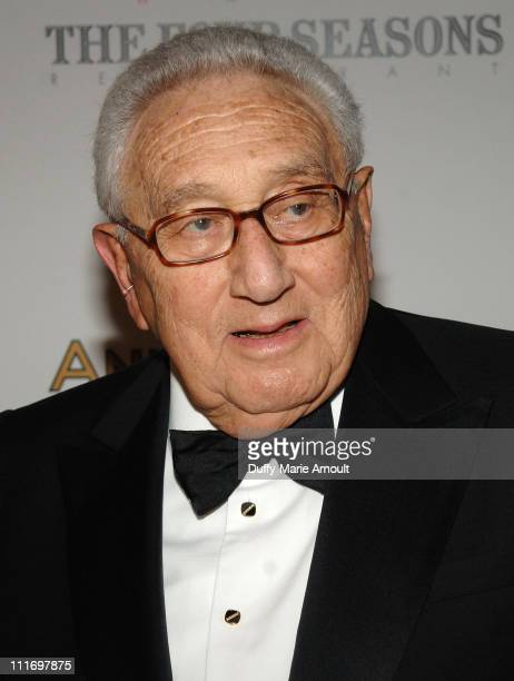 Henry Kissinger attends the 50th Anniversary gala at Four Seasons Hotel New York on June 11 2009 in New York City
