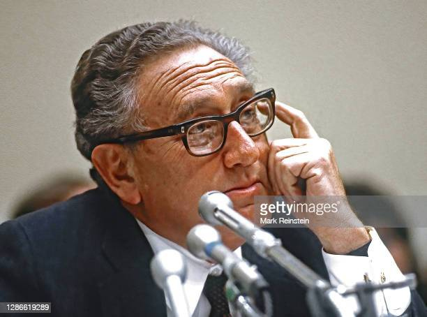 Henry Kissinger, chairman of the President's Bipartisan Commission on Central America appears before the House Foreign Affairs Committee on Capitol...