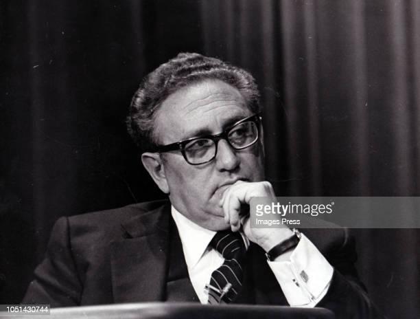 Henry Kissinger circa 1976 in New York City.