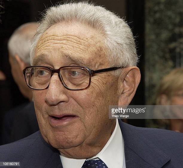 Henry Kissinger during CNBC Hosts Reception to Celebrate Tina Brown and David Faber Primetime Specials at The Georgian Suite in New York City New...