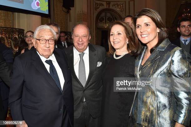 Henry Kissinger Stanley Chera Cookie Chera and Nikki Haley attend American Friends Of Rabin Medical Center 2018 Annual NYC Gala at The Plaza on...