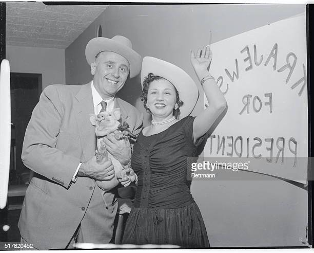 Henry Krajewski erstwhile pig farmer of Secaucus New Jersey tossed his wide brimmed campaign hat into the ring today at the Belmont Plaza Hotel in...