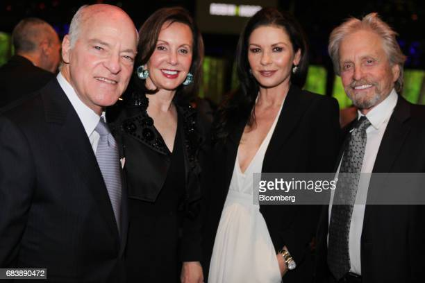 Henry Kravis cochief executive officer and cofounder of KKR Co from left MarieJosee Kravis vice chairman of Hudson Institute Inc actors Catherine...