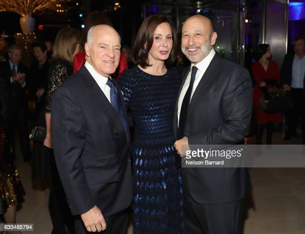 Henry Kravis Josee Marie Kravis and Llyod Blankfein attend Lincoln Center's American Songbook Gala red carpet at Alice Tully Hall on February 1 2017...