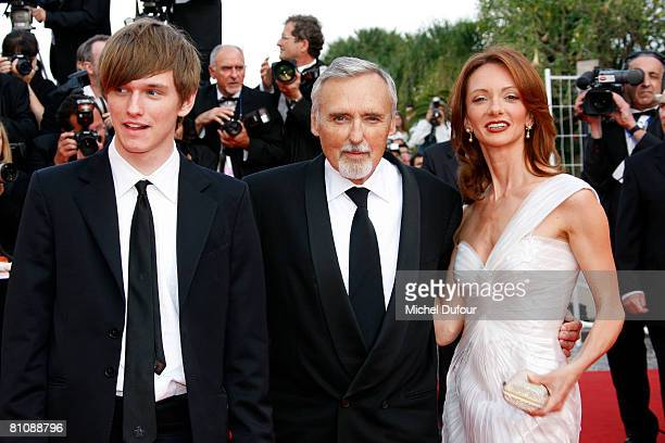 Henry Lee Hopper, Dennis Hopper and Victoria Duffy arrive at the premiere of ''Blindness'' at the Palais des Festivals during the 61st International...
