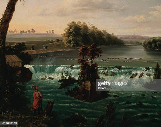 Henry Lewis English painter Falls of Saint Anthony Upper Mississippi 1847 ThyssenBornemisza Museum Madrid Spain