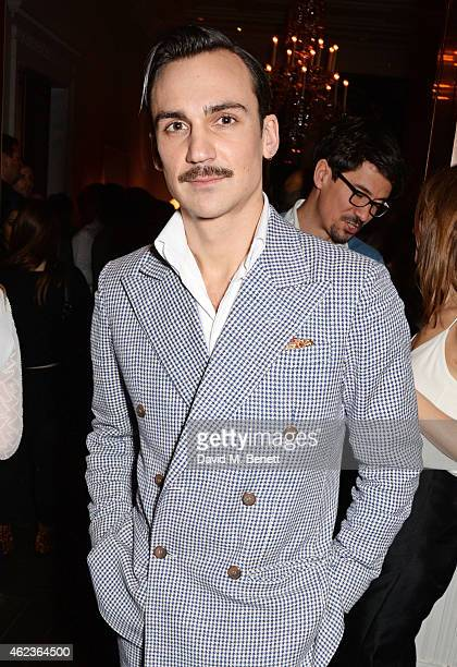 """Henry Lloyd-Hughes attends the launch of Channel 4's new period drama """"Indian Summers"""" at The Arts Club on January 27, 2015 in London, England."""