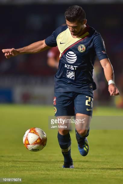 Henry Martin of America controls the ball during a match between Veracruz and Club America as part of Copa MX Apertura 2018 at Luis 'Pirata' de la...