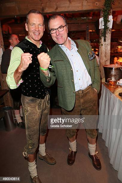Henry Maske and Clemens Toennies during the Oktoberfest 2015 at Kaeferschaenke at Theresienwiese on September 25 2015 in Munich Germany