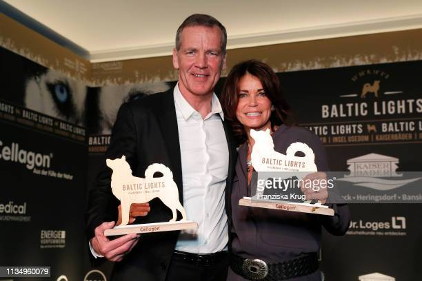 """March 09: Henry Maske and Gerit Kling during the """"Baltic Lights"""" gala night event on March 9, 2019 in Heringsdorf, Germany. The annual charity event..."""