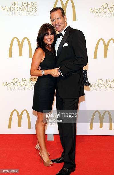 Henry Maske and his wife attend Manuela Maske attend the 'McDonalds Germany Celebrates 40th Birthday - Gala' at the Tempelhof airport Berlin on...