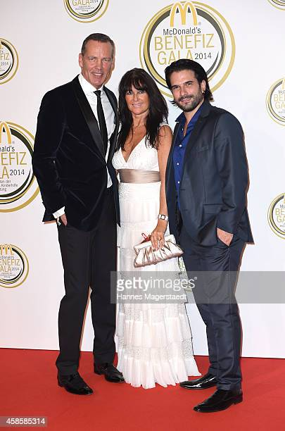Henry Maske and his wife Manuela and Marc Terenzi attend the McDonald's charity gala on November 7 2014 in Weissach near RottachEgern Germany