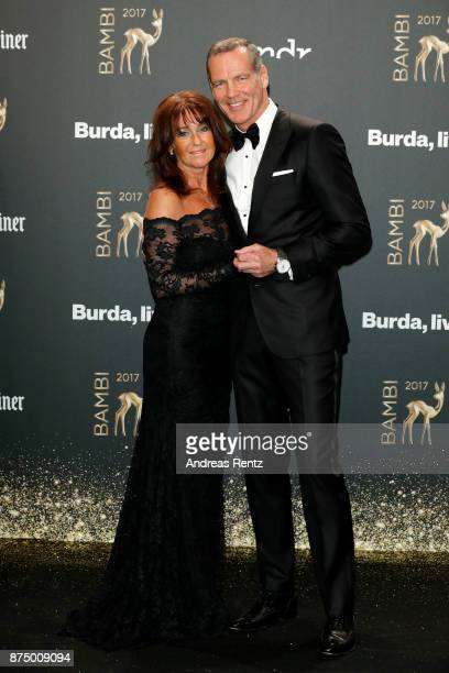 Henry Maske and his wife Manuela arrive at the Bambi Awards 2017 at Stage Theater on November 16 2017 in Berlin Germany