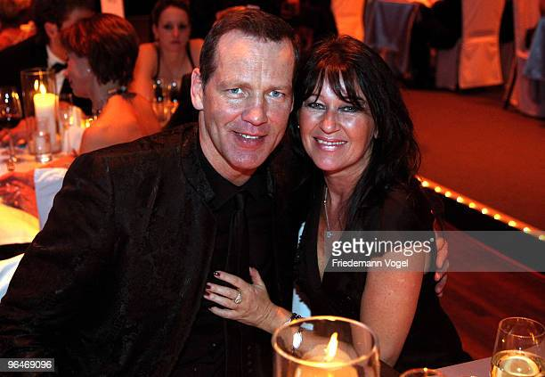 Henry Maske and his wife Manuela attend the 2009 Sports Gala 'Ball des Sports' at the RheinMain Hall on February 6 2010 in Wiesbaden Germany
