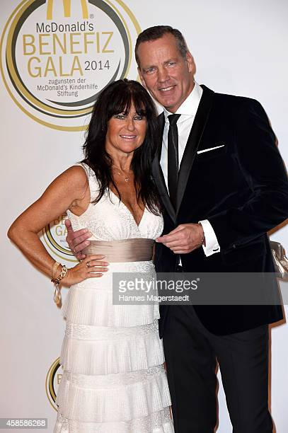 Henry Maske and his wife Manuela attend the McDonald's charity gala on November 7 2014 in Weissach near RottachEgern Germany