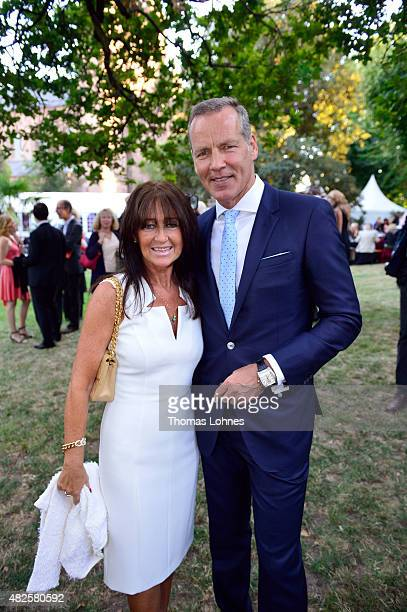 Henry Maske and his wife Manuela attend the opening night of the Nibelungen festival on July 31 2015 in Worms Germany